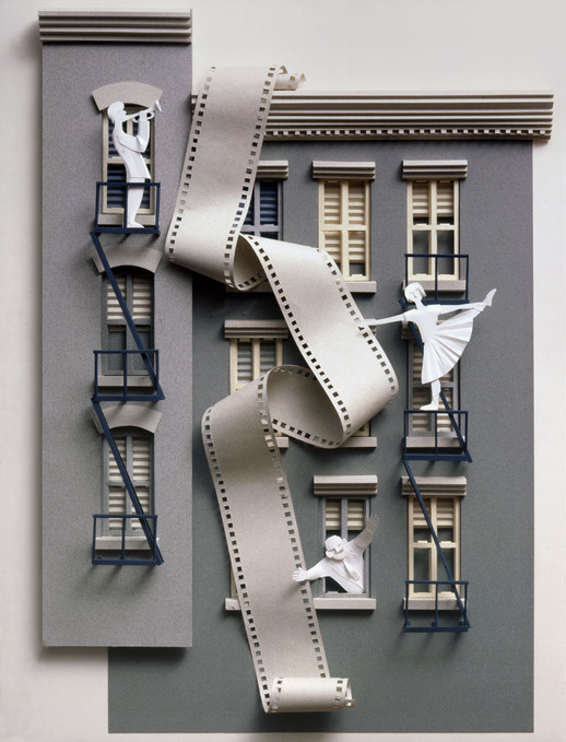 «New York Stories» paper sculture