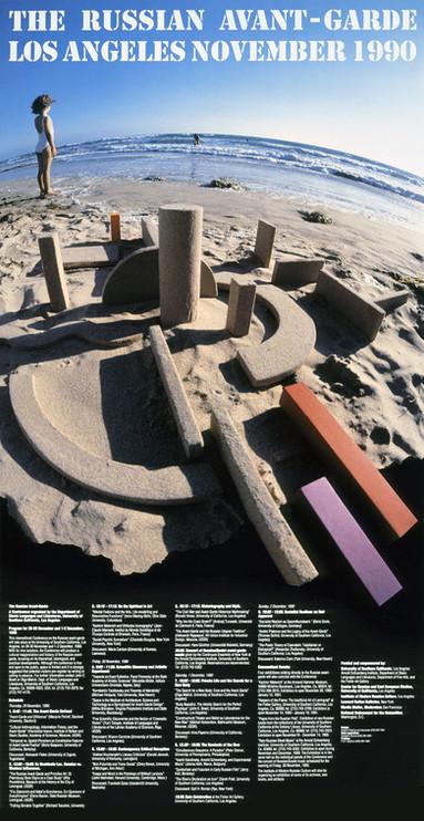 «The Russian Avant-Garde» sand sculpture
