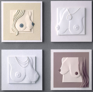 «Breasts» paper sculpture