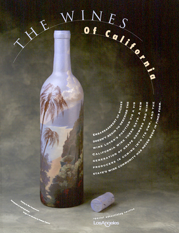 «The Wines of California» magazine section