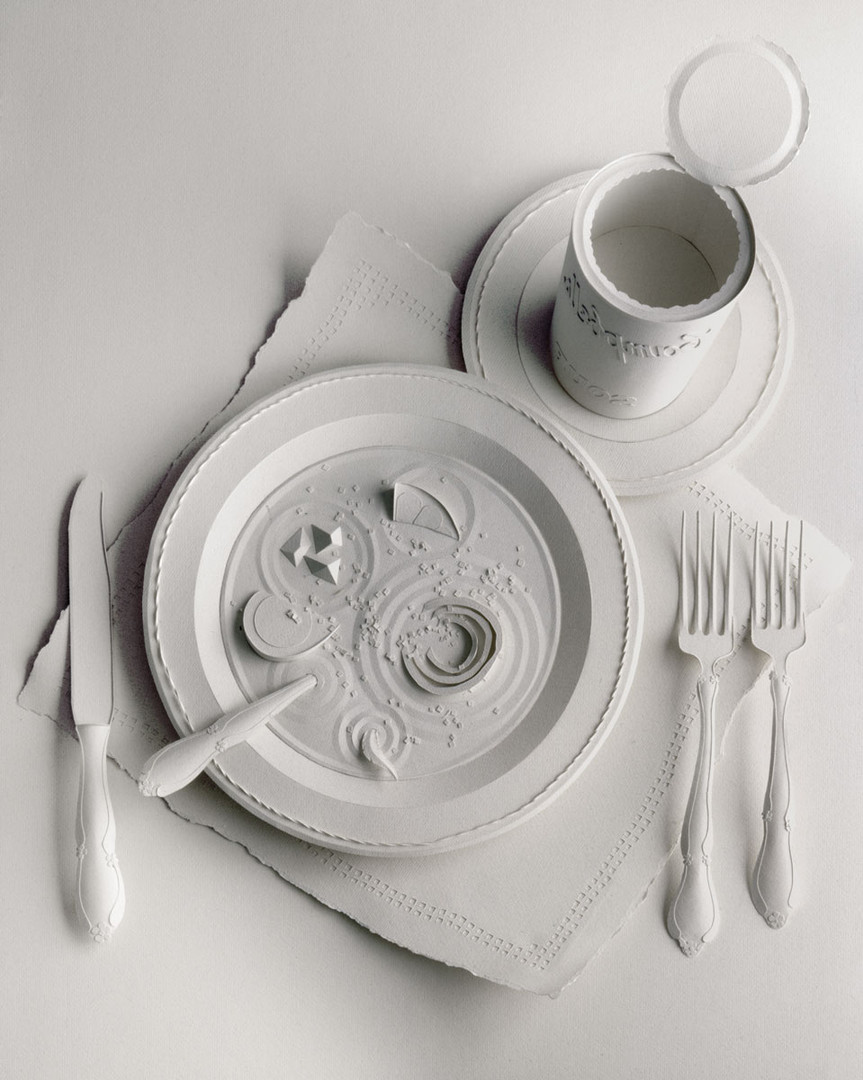 «Food» paper sculpture