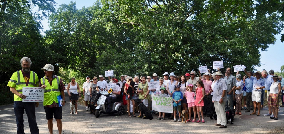 Great turnout for 'rambling protest' 24th July 2018
