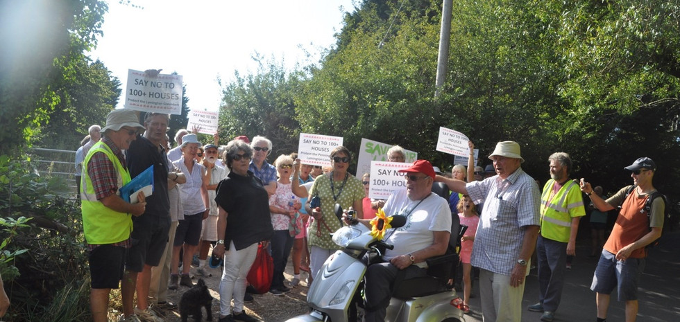 80 members of PALLS join the protest