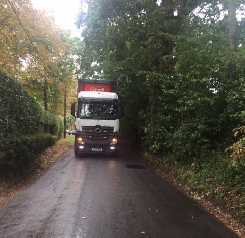 Lorry on Ridgeway Lane