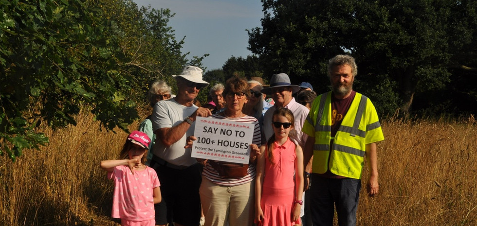Members of all ages join the 'rambling protest'