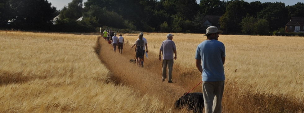 Rambling Protest  across the fields - 24th July 2018