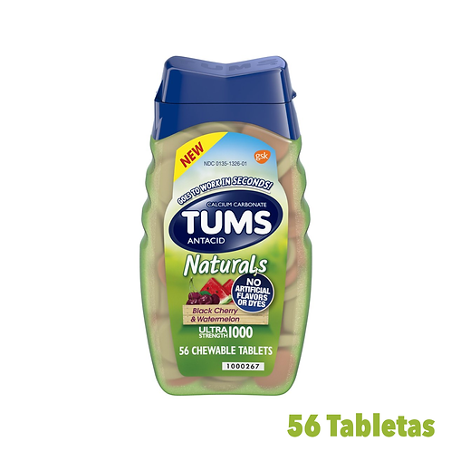 Tums Antacid Naturals Black Cherry & Watermelon