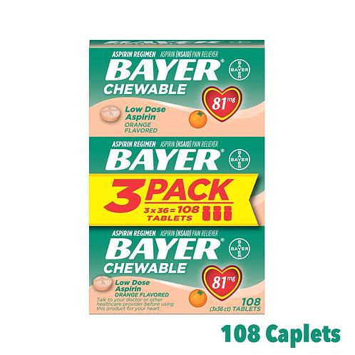 Bayer Aspirin Chewable Low Dose Orange