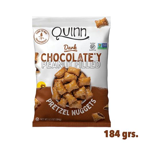 Quinn Dark Chocolate'y Peanut Filled Pretzel Nuggets