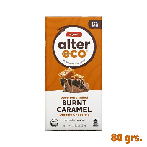 Alter Eco, Burnt Caramel Organic Chocolate
