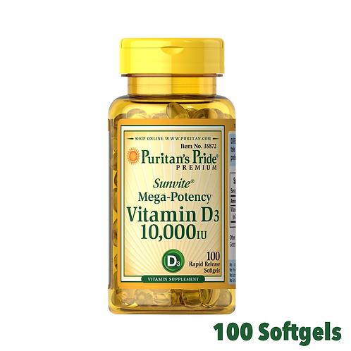 Puritan's Pride Premium Vitamin D3 10,0000 IU