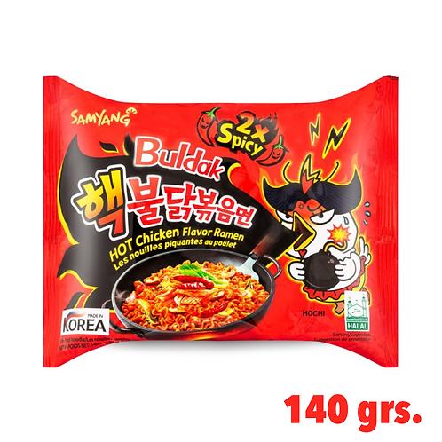 Buldak Ramen, Korean Famous Ramen, 2X Spicy Flavor.
