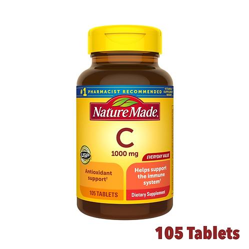 Nature Made Vitamin C 1000 mg.
