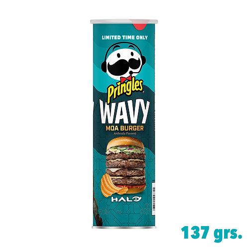 Pringles Wavy Moa Burger Halo.