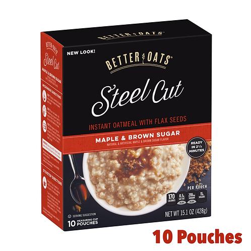 Better Oats Steel Cut Maple & Brown Sugar Oatmeal