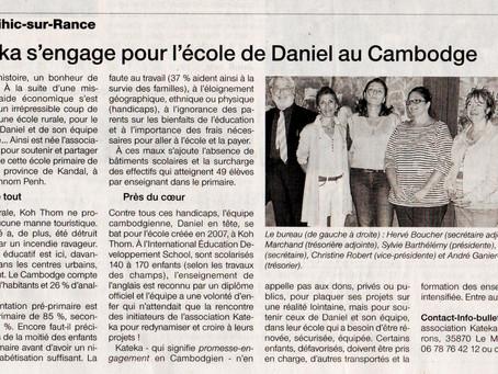 KATEKA s'engage pour l'école de Daniel au Cambodge
