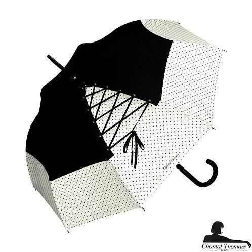 Damski parasol UVP Sznurówka Noir Blank Chantal Thomass