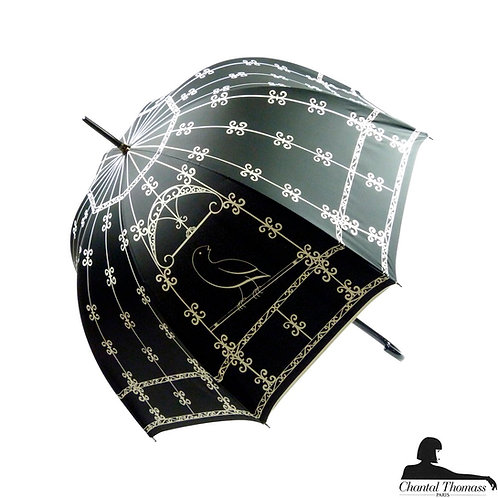 Damski parasol UVP Klatka dla ptaków Noir Chantal Thomass