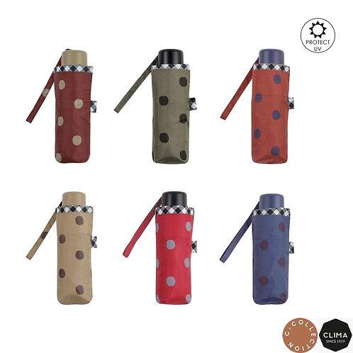 Mały Micro parasol do torebki Filtr UV Grochy Clima 505