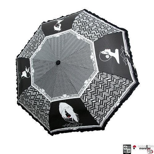 Parasol Automat otwórz-zamknij Art Decò Falbanka EMME M438