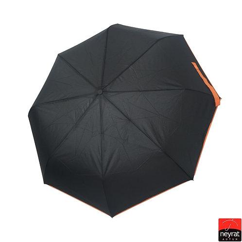 Czarny parasol Automat otwórz-zamknij z lamówką Neyrat Autun 4362