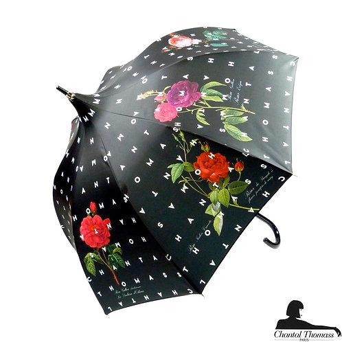 Damski parasol UVP Kwiecisty język Noir Chantal Thomass