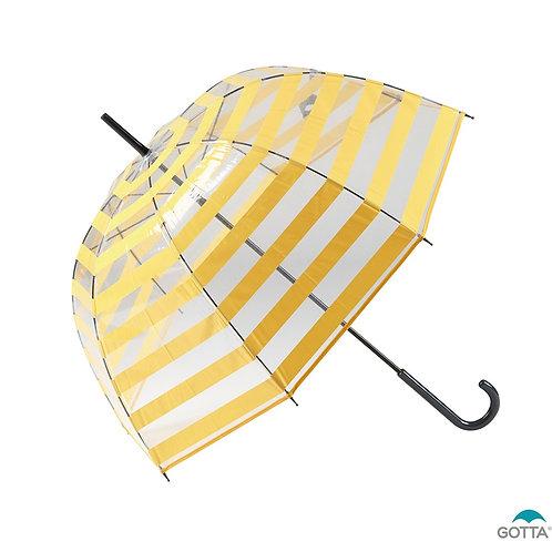 Przezroczysty Transparentny parasol Pasy Gotta 11657