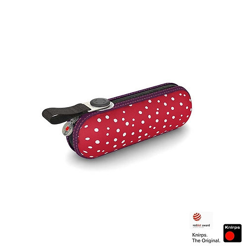 Kieszonkowy parasol Flakes Red X1 Knirps