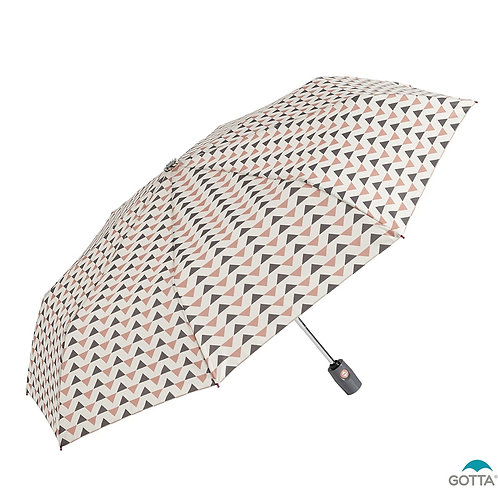 Damski parasol Automat otwórz-zamknij Trójkąty Gotta 11485