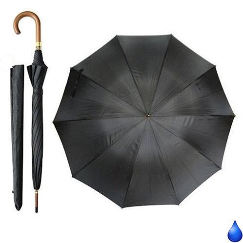 Czarny długi parasol z pokrowcem Blue Drop A520UL
