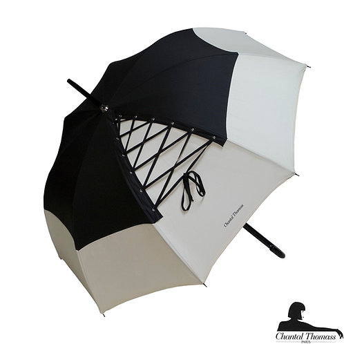 Damski parasol UVP Sznurówka Noir Ivoire Chantal Thomass