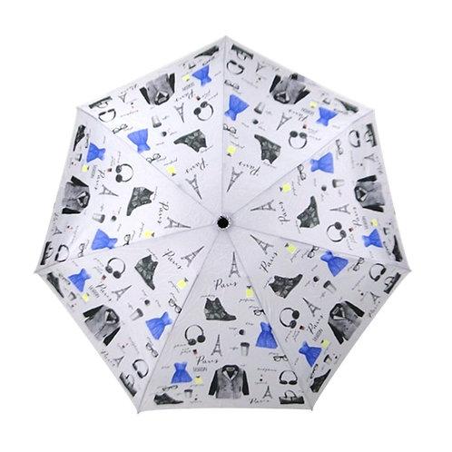 Mini lekki parasol do torebki Fashion Blue Drop A455DC