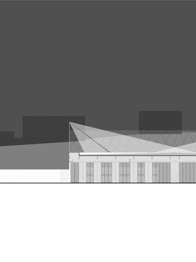 Corte_Pavilhão_decportivo_Arquitetura_R