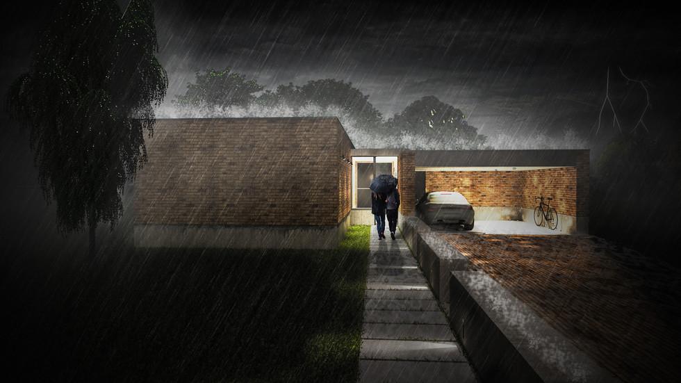 Casa moderna de tijolo, pelos rasa arquitetos, em Viseu