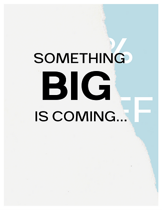 Something Big Is Coming Email Template