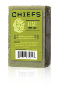 chiefs lime man soap