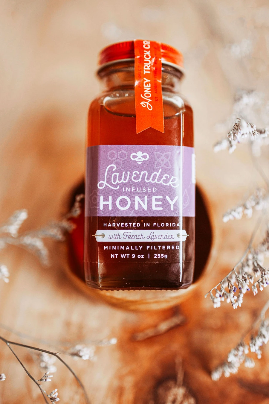 Lavender Honey Custom Product Label