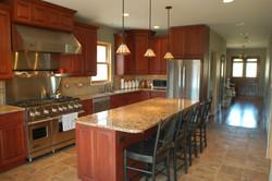 cherry stain kitchen
