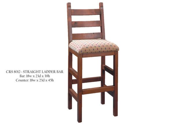 CRS 8012 Straight Ladder Back Bar Chair
