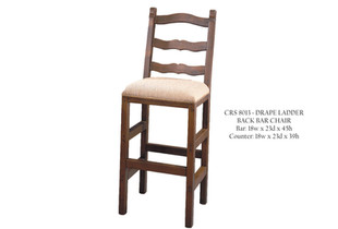 CRS 8013 Drape Ladder Back Bar Chair