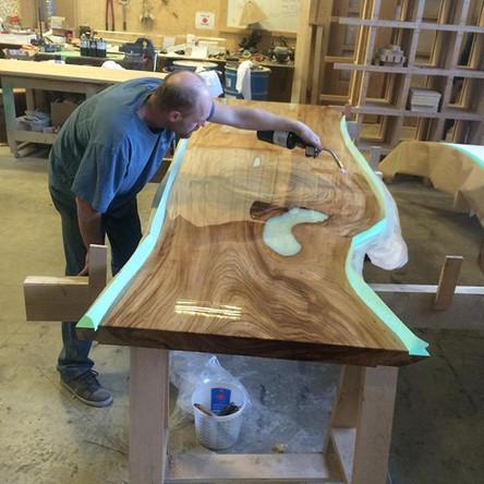 Solid woods - no veneers - made is the U