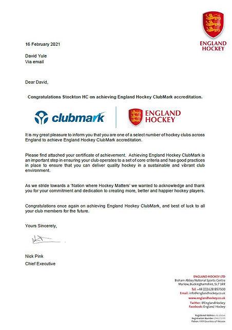 ClubMark Letter.JPG