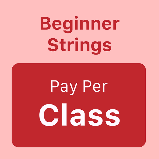 Beginner Strings - Pay per Class