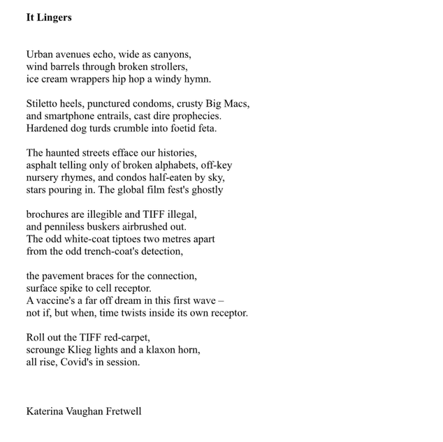 It Lingers by Katerina Vaughan Fretwell
