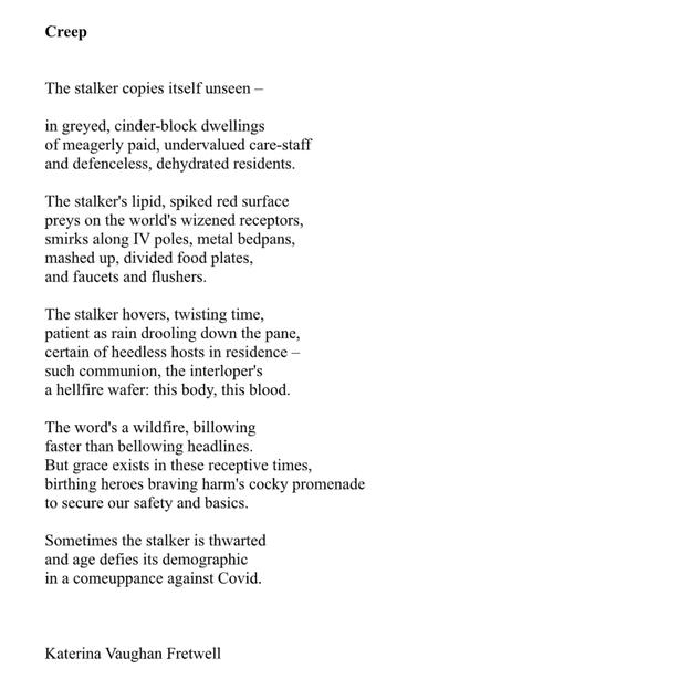 Creep by Katerina Vaughan Fretwell