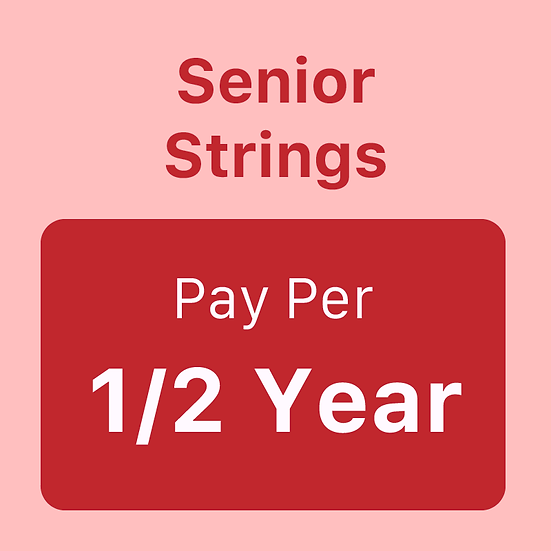 Senior Strings - Pay per Half Year