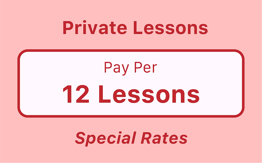 Private Lessons - Pay Something - Pay Per Term
