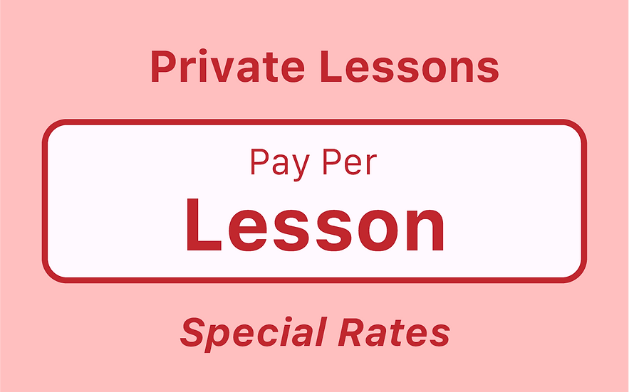 Private Lessons - Pay Something - Pay Per Lesson