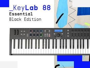 Arturia Keylab Essential 88 Black Edition – выпуск Keylab Essential 88 в новом цвете.