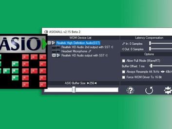 Проект ASIO4ALL выпустил новую версию драйвера ASIO4ALL 2.15 (Beta 2).